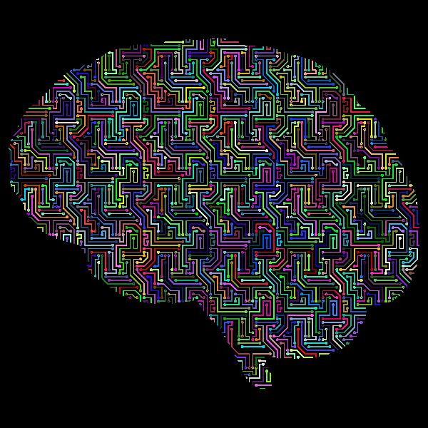 Cyber Brain Prismatic Pattern
