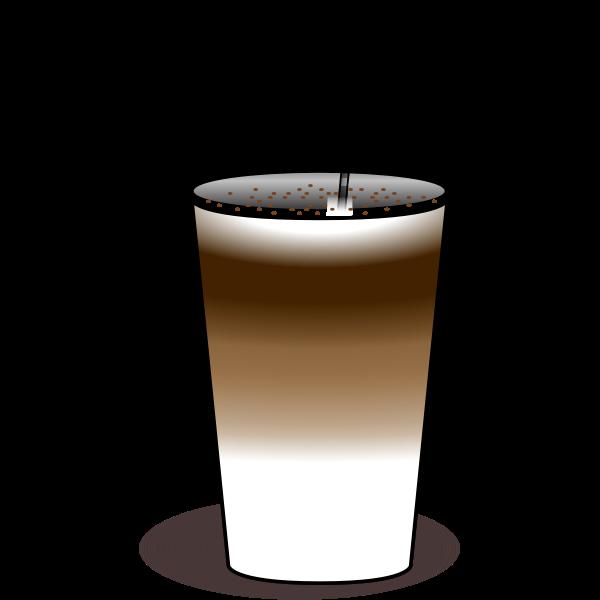 Latte macchiato vector