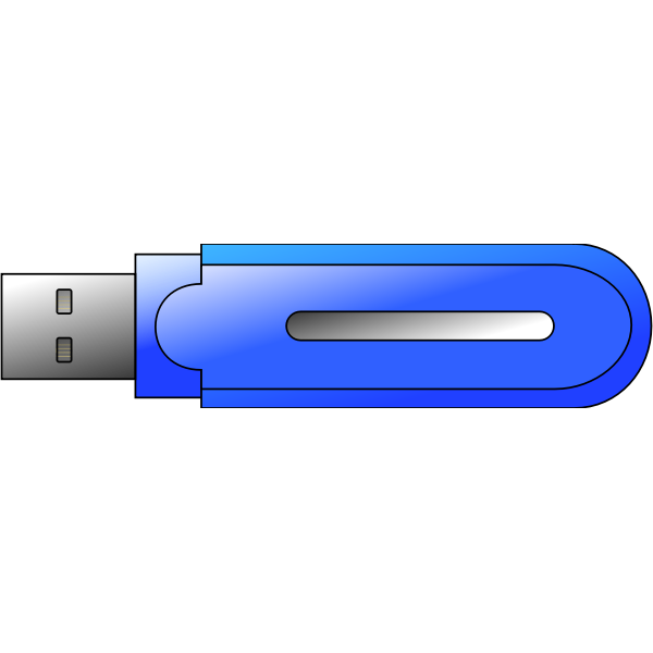 USB memory flash drive vector illustration