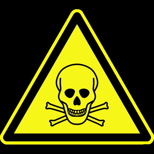 Warning toxic materials
