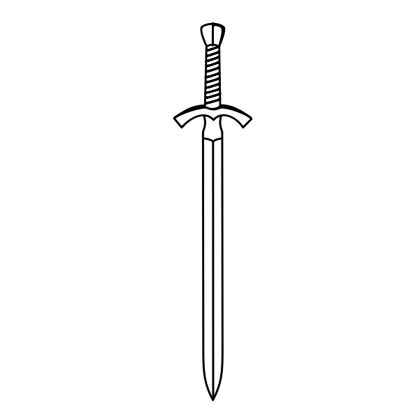 Two-edged sword vector image