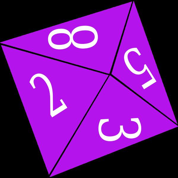 Purple game dice