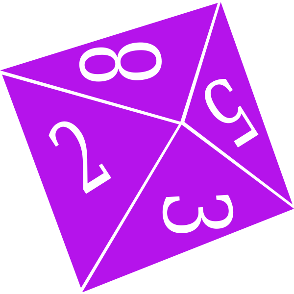 Purple game dice