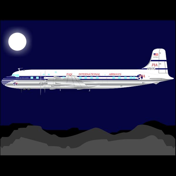 Plane Under Moonlight Free Svg