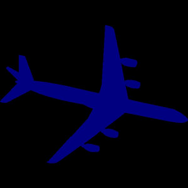 Douglas DC-8 blue silhouette vector image