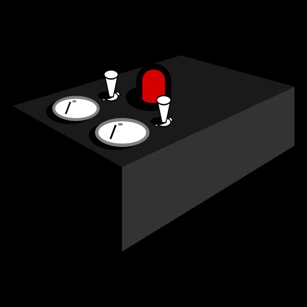 Internet box vector clip art