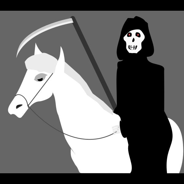Death riding a pony vector clip art