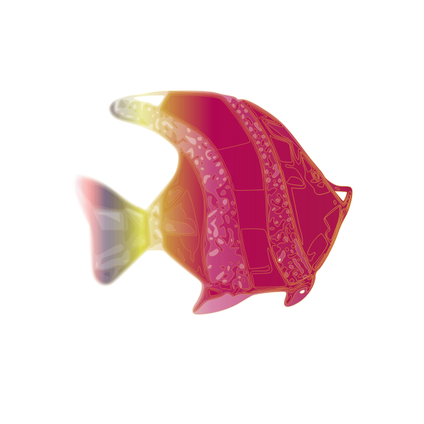 Decorative pink fish vector illustration