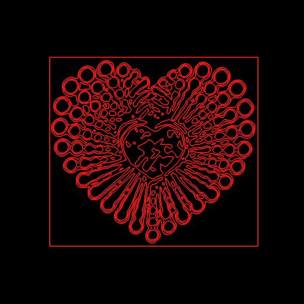 Heart decorative shape silhouette