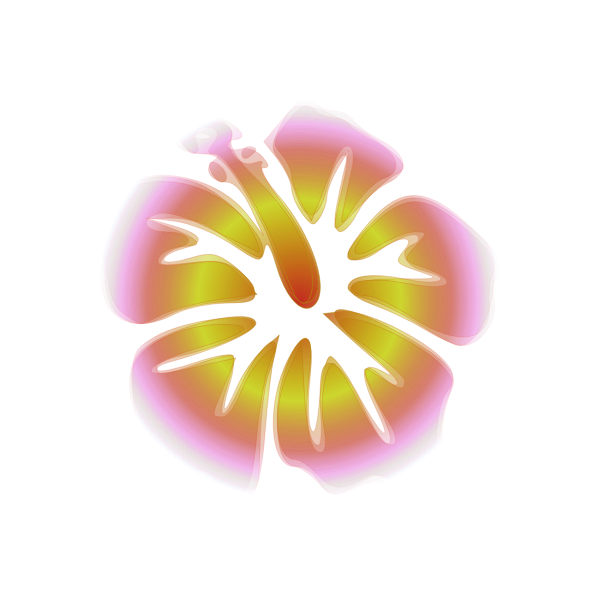Decorative flower with glowing effect