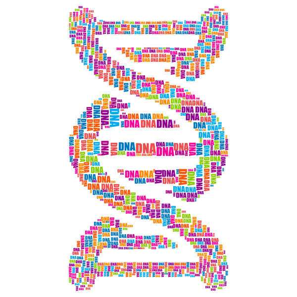 DNA Strand Word Cloud Typography