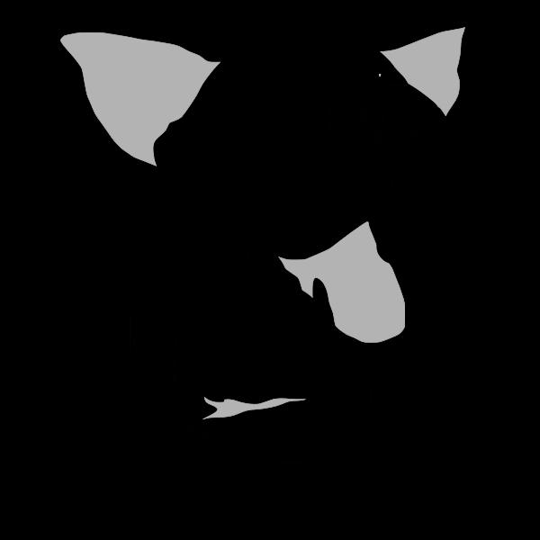 Beware of dog sign vector drawing