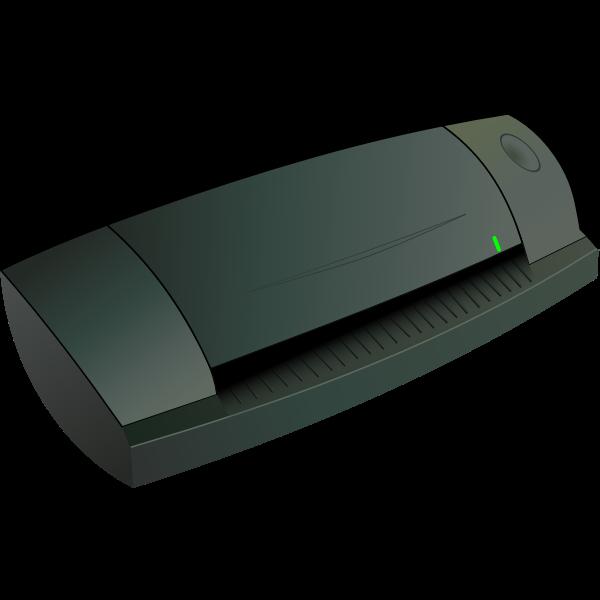 Card scanner vector image