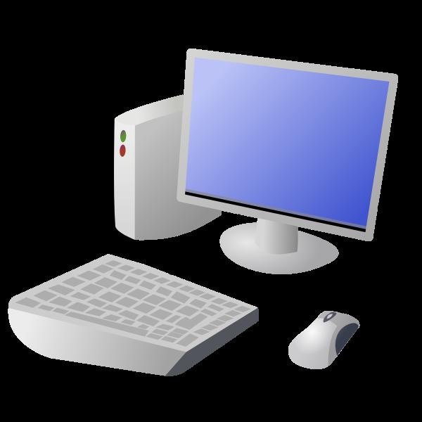 Cartoon desktop computer vector image