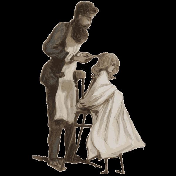 DV307 no 153 A Barber curring hair March 26 1866 copy