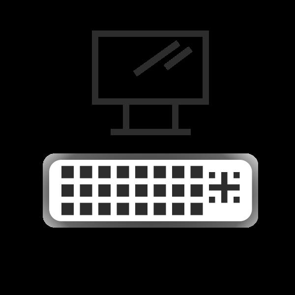 DVI port icon vector image