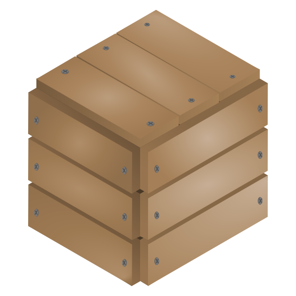 Vector graphics of boarded up wooden box