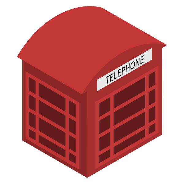 Vector image of red phonebox