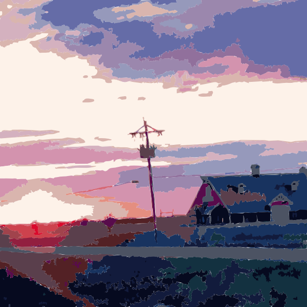 Daily Sketch Barn Sunset 2015051346