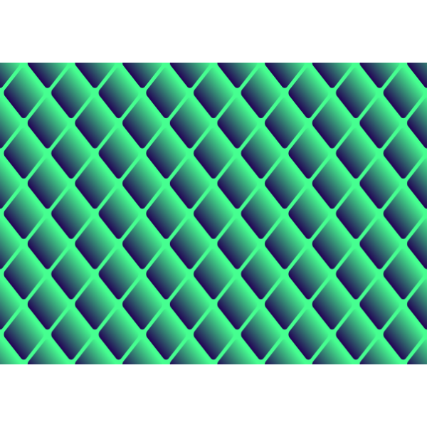Diamond pattern in green color