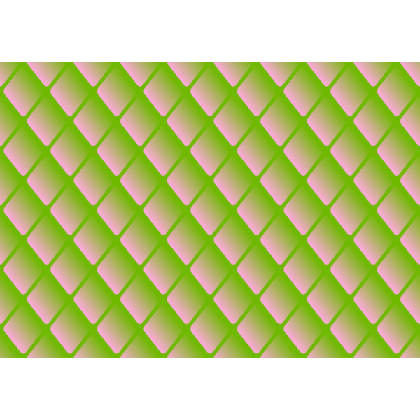 Diamond pattern in green and pink