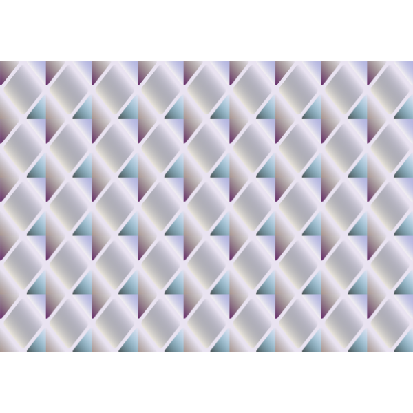 Diamond hexagons in a pattern