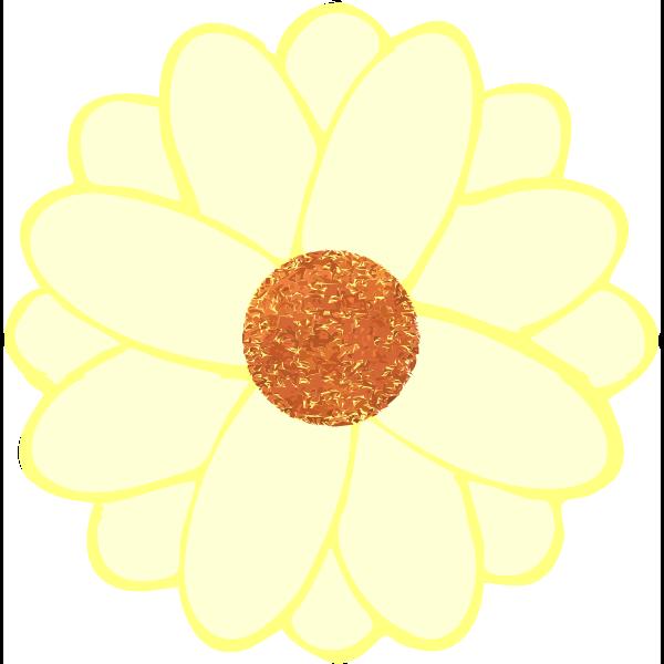 Vector image of daisy petals