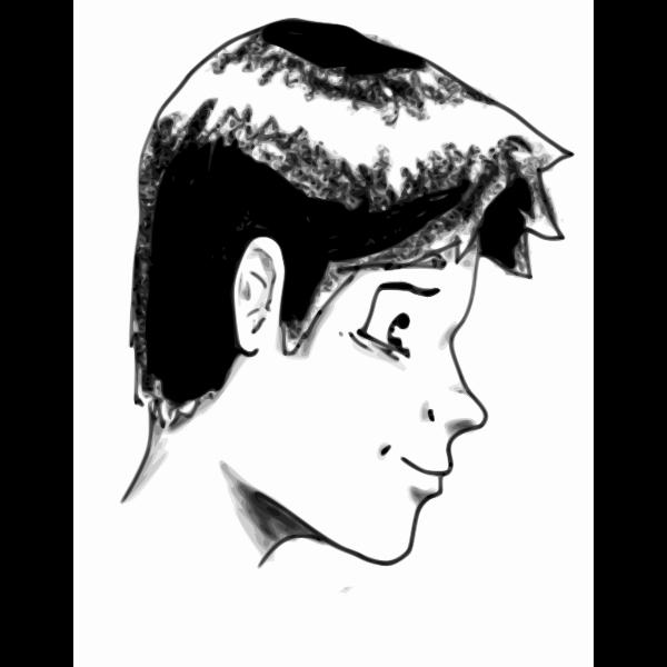 Boy profile portrait vector image