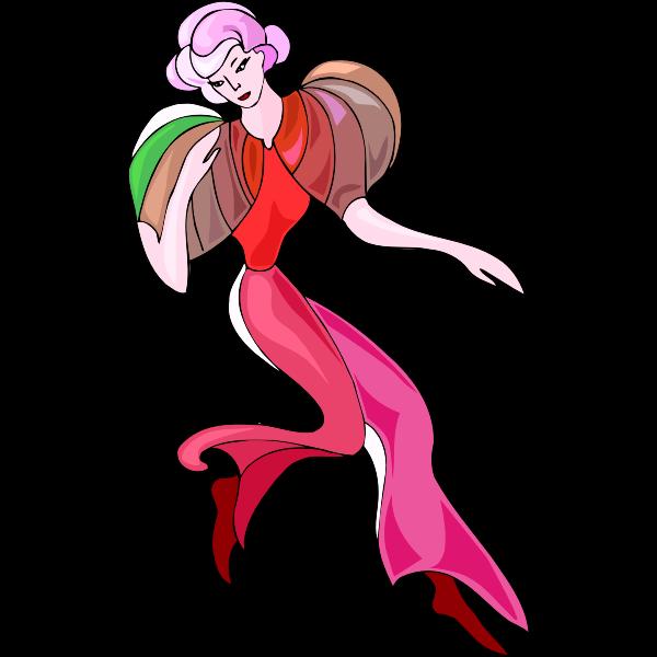 Retro dancer illustration