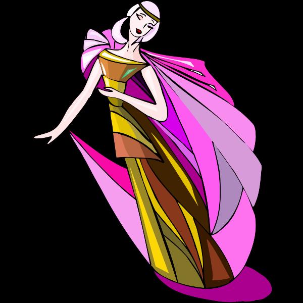 Dancer in gown