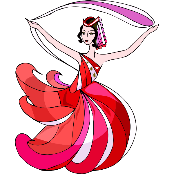 Cheerful danseuse