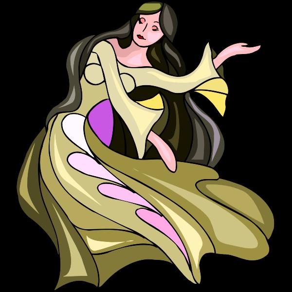 Fairy with long hair