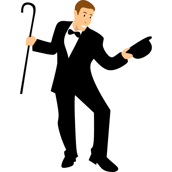 Dancer with cane vector image