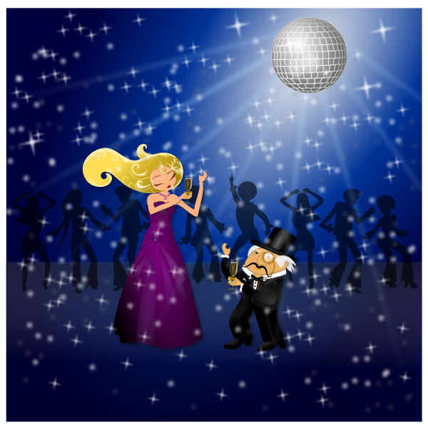 Dancing Couple vector graphics