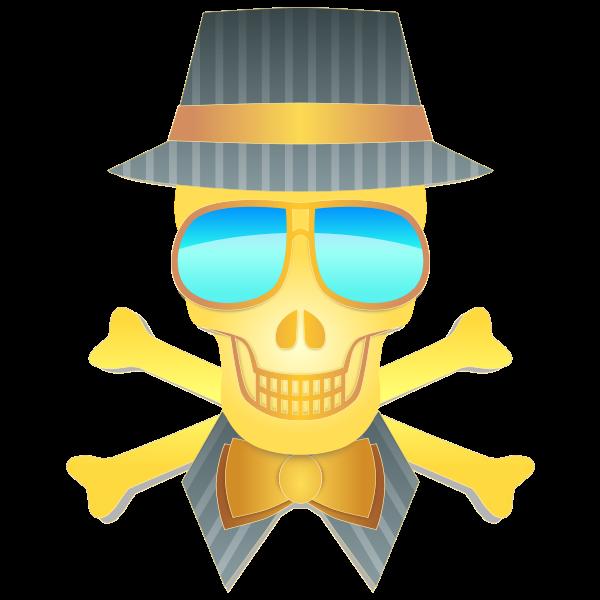Dapper skull vector drawing