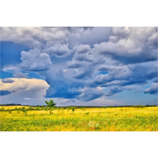 Dark Storm Clouds Over The Savannah