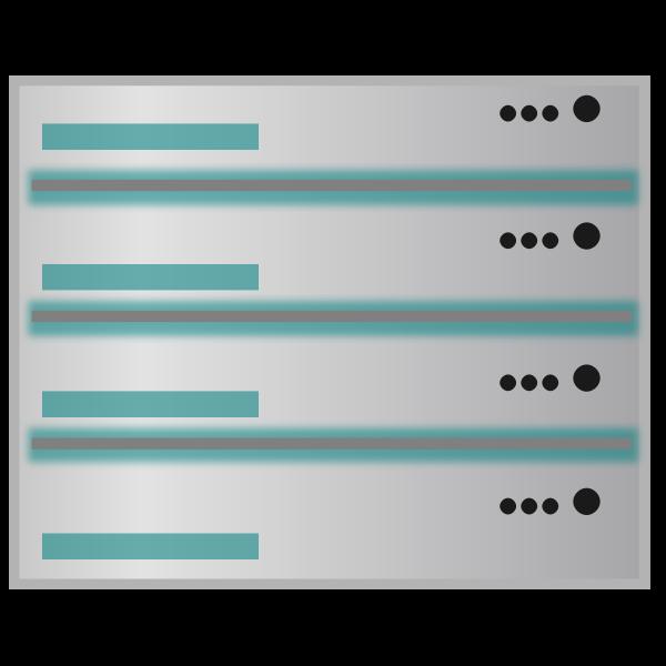 Database server vecor image