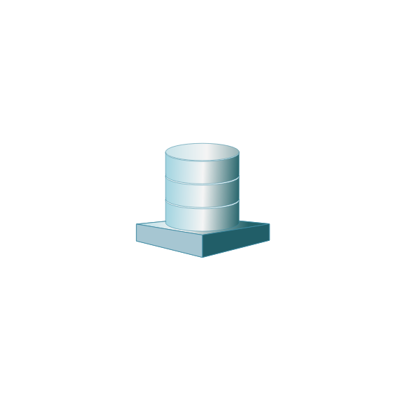 Database platform vector clip art