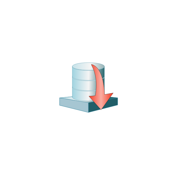 Database platform down vector image