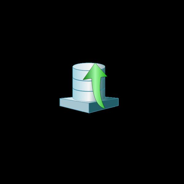 Database platform up vector illustration
