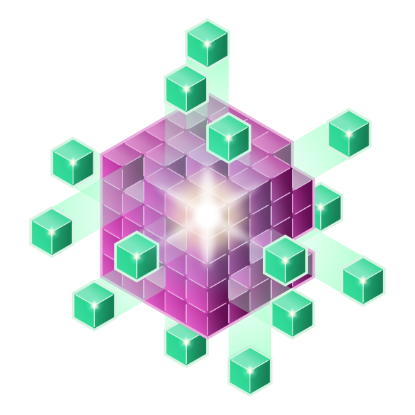 Purple and green cubes