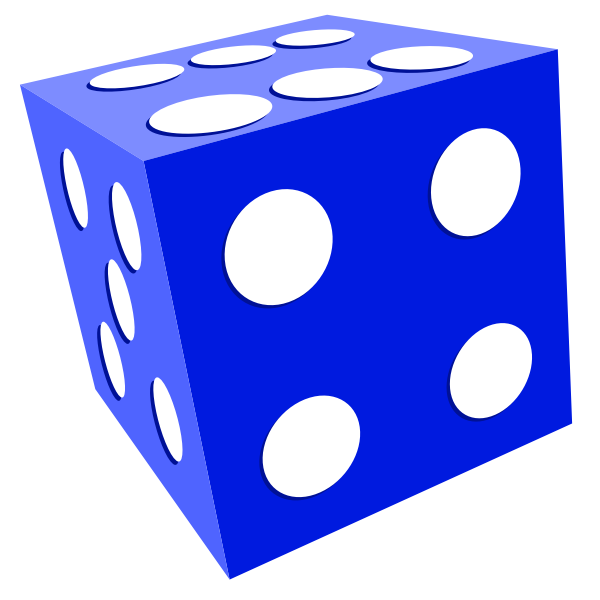 Illustration of playing dice