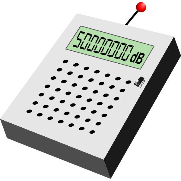 Electronic decibel measurer