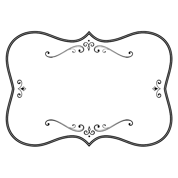Black And white flourish frame