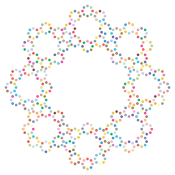 Decorative Circles Frame Prismatic 2
