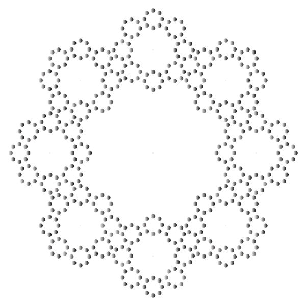 Decorative Circles Frame Prismatic 3