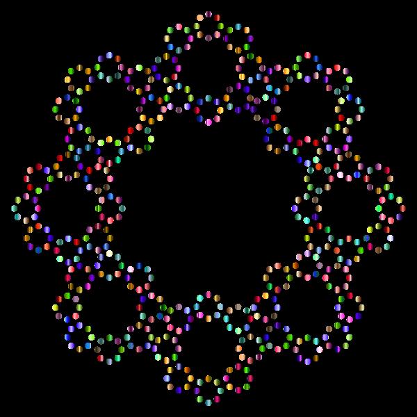 Decorative Circles Frame Prismatic 4