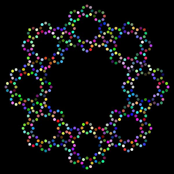 Decorative Circles Frame Prismatic