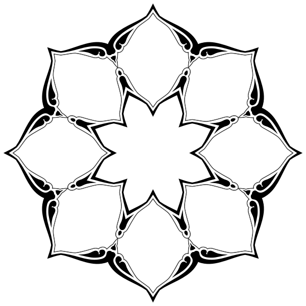 Floral circular garnish