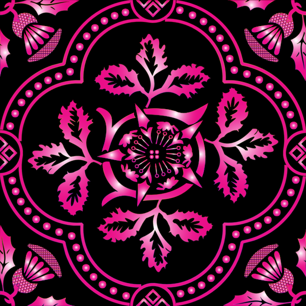 Decorative Floral Design Enhanced 10